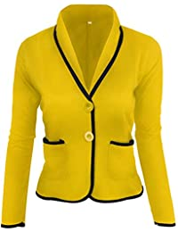 0b231f3d4f67 Damen Tailliert Kurz Elegante Langarm Slim Business Büro Jäckchen Anzug  Casual Kurzblazer Mantel Jacke Oberteil Blazer