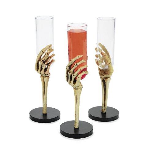 Sektgläser, Sektflöten, Gläser aus Plastik 6 Stück Horrorparty Gruselparty Deko Palandi® ()