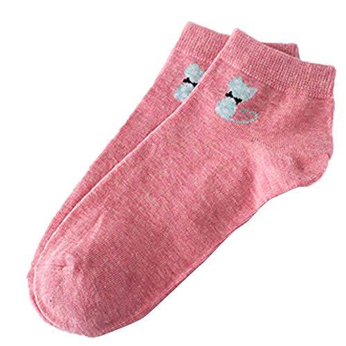 POPLY Frauen Socken Fashion Women Cotton Skateboard Sock Bequeme Socks (Rosa,)