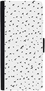 Snoogg Fly Sky Graphic Snap On Hard Back Leather + Pc Flip Cover Sony Xperia Z1
