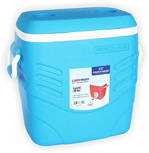 Princeware Plastic Ice Box, 20 Litre, Assorted