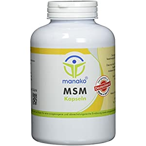 manako MSM (Methylsulfonylmethan) Kapseln human, 300 Stück, Dose 210 g (1 x 300 Kapseln)