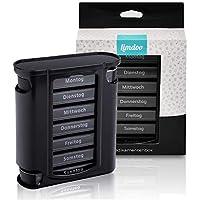 Tablettenbox 7 Tage (je 4 Fächer). Pillendose für 1 Woche. Tabletten Wochenbox mit optimierter Beschriftung. Robuste... preisvergleich bei billige-tabletten.eu