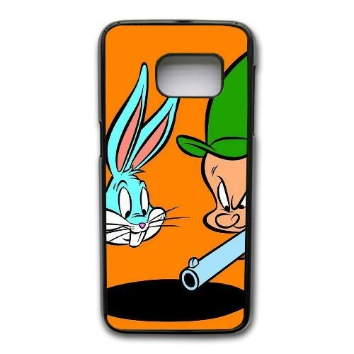 generic-samsung-galaxy-s7-edge-cell-phone-case-black-bugs-bunny-and-elmer-fudd-protective-cover-skin