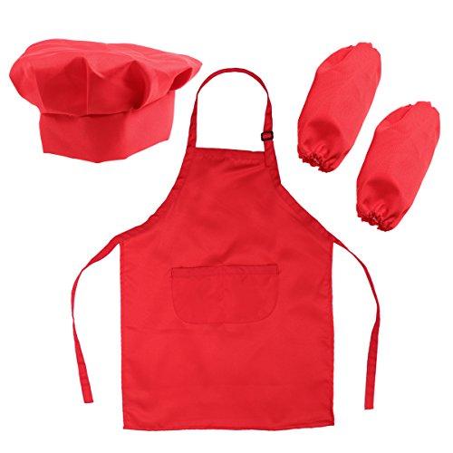 BESTOMZ Chef Set for Kids Bambini Cooking Dress Up Giochi di ruolo Set con grembiule, cappello da cuoco