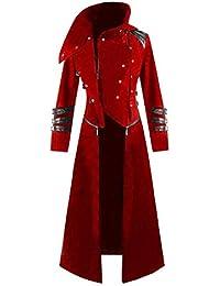 Cinnamou_hombre Chaqueta Steampunk Disfraces Capuch Blusa Hombres de Gotico Vestido Chaquetas Ropa Larga De La Vendimia Viste Traje De Cosplay para Hombres