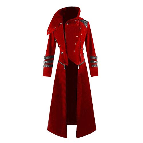 MEIbax Herren Gothic Steampunk Kapuzen Trench Party