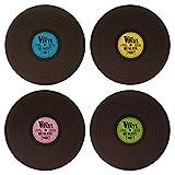 trendaffe Vinyl Platzsets im 4er Set - Schallplatte Platzdeckchen Tischset Tischmatte