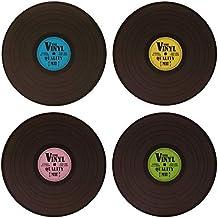 4-er Platzset Retro Schallplatte 145088 Vinyl Tischset grün Abwaschbar Unterlage