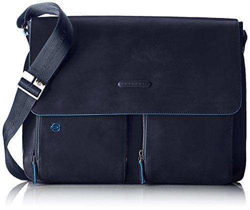 Piquadro Messenger, Collezione Blue Square, 38 cm, Blu