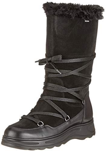 Geox Damen D HOSMOS B ABX B Schneestiefel, Schwarz (Black C9999), 40 EU, 7 UK