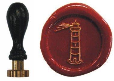 Siegel Stempel Petschaft Leuchtturm 24 mm -