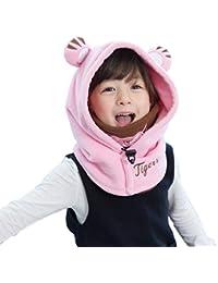 Azarxis Enfants Balaclava Polaire Hiver Chaud Face Couverture Cou Chaud Ski  Chapeau Coupe-Vent pour… c5dec377555