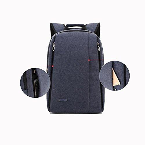 Stoffa Oxford zaino moda tempo libero impermeabile Laptop Zaini maschi Daypack , blue , 14 inches blue