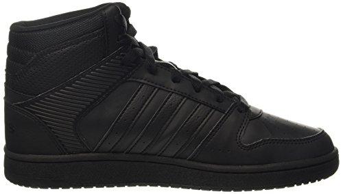adidas - Vs Hoopster Mid W, Scarpe sportive Donna Negro (Negbas / Negbas / Negbas)