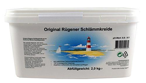 Original Rügener Schlämmkreide / 2,0 Kg Calciumcarbonat / reines und allergenfreies Naturprodukt