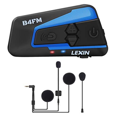 LEXIN B4FM Motorradhelm Intercom, Bluetooth Motorrad Headset Windgeräuschreduzierung, Bluetooth-Kommunikationssystem für Motorräder