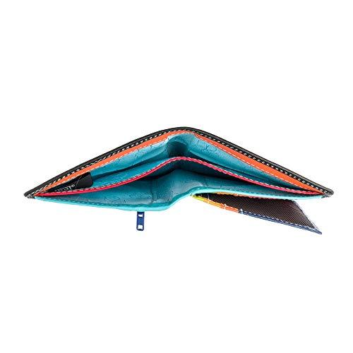 e502319336 Portafoglio da uomo a libro in pelle multicolore con lampo DUDU Nero