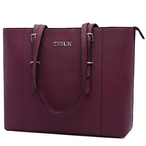 ZYSUN Laptop-Tasche für bis zu 15,6 Zoll (39,6 cm), tolle Geschenke für Frauen, Violett (dunkle Beere), (39.62 cm) Nb-computer