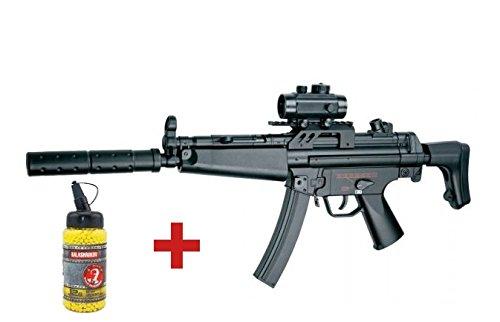 Cm023 Paquete de regalo de Navidad con subfusil MP5 para airsoft, de ABS, semiautomático, automático, eléctrico (0,5 J)
