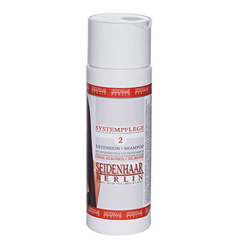 *Seidenhaar- Extension Shampoo * für Extensions & Langhaar *sensitive, 100% Vegan, ohne Silikone, ohne Parabene, ohne Öl, ohne Alkohol * 200 ml