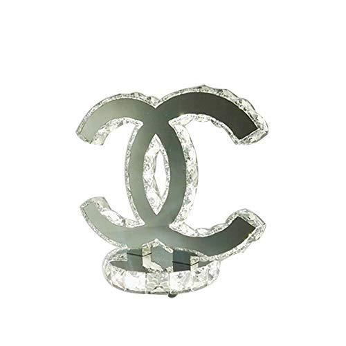 Lampada da tavolo a led moderna in cristallo da comodino lampada da tavolo in acciaio inox per soggiorno (colore : white light)