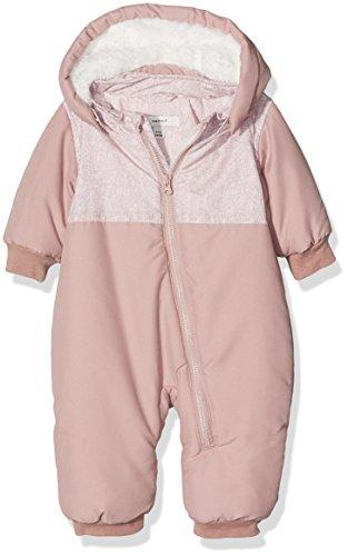 NAME IT Baby-Mädchen Schneeanzug Nitmade Suit F NB Rosa (Woodrose), 50 (Herstellergröße: 50-56)
