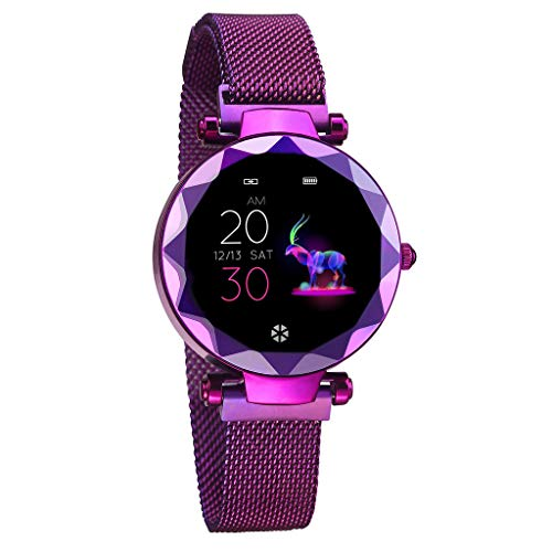 YEARNLY Smart Watch IP67 Waterproof Fitness Tracker Bluetooth Heart Rate Blood Pressure Monitoring 1.04 Inch IPS HD Color Screen Bracelet Watch for iPhone Android Damen -