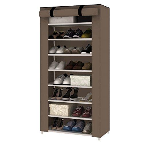 MultiWare Schuhregal Schuhständer Schuhablage Schuhschrank Schuhe Aufbewahrung 10 Ebenen Für 40 Paar