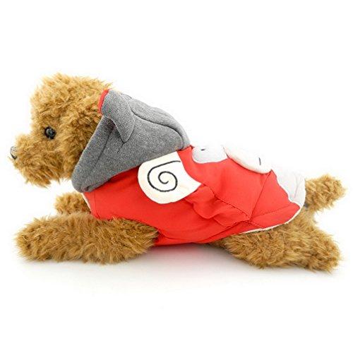 Imagen de ranphy pequeño perro ropa para niñas niños mono disfraz cotton padded con capucha abrigo para perros con forro polar