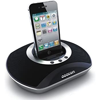 AZATOM® UFO Docking station portable speaker for iPod & iPhone / Built-in High power rechargable battery / Remote Control / Unique design / Quality sound with bass port technology