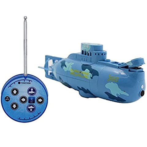 Tplay Remote Control Submarine Bath RC Boat Diving Toy (Colors May Vary)