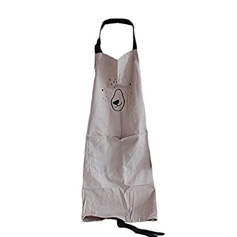 Enipate Home and Kitchen Waterproof Cute Work Shop Girl Women Cooking Kitchen Apron with Pocket (M,