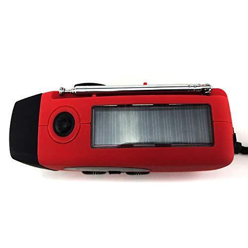VBVA Solar-Funk-Notfalllichter, tragbar, wasserdicht, 3 LEDs, superhelle Taschenlampen mit Ladefunktion für Feldabenteuer, Reisen, Jagd -