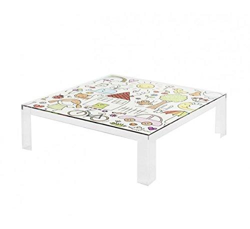 Kartell Invisible Table Kids Meuble d'enfant Plastique, Transparent, 100 x 100 x 55 cm