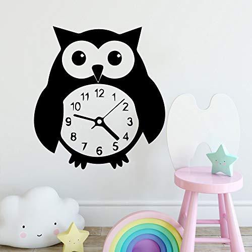 ljradj Neue Pinguin Uhr Wohnkultur Moderne Acryl Dekoration Für Kinderzimmer Wohnzimmer Wohnkultur Aufkleber Kreative Aufkleber schwarz XL 58 cm X 63 cm