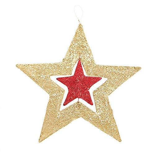 Ciondolo decorativo stella di natale rotante pendente decorativo decorazioni natalizie per la casa