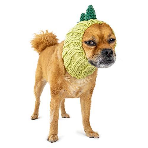 Kostüm Hunde Trex - Zoo Kapuzenschal der Original Knit Dinosaurier Hund Snood, klein