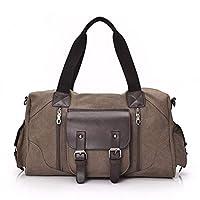 ZOUQILAI Long-distance Travel Bag, Canvas Handbag, Large-capacity Men and Women Shoulder Slung Bag