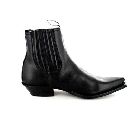 Fashion Boots BU1009 Inter Negro/ Damen und Herren Westernstiefelette Schwarz Negro