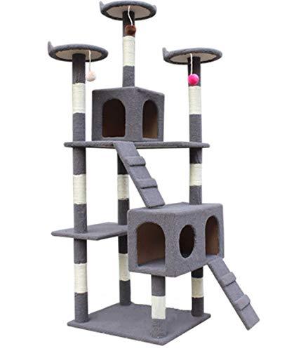 Cat Tree Condo Meubles Multi-Level Deluxe et Tour d'activité Chaton Tour d'activité Pet Kitty Maison de Jeu avec grattoirs