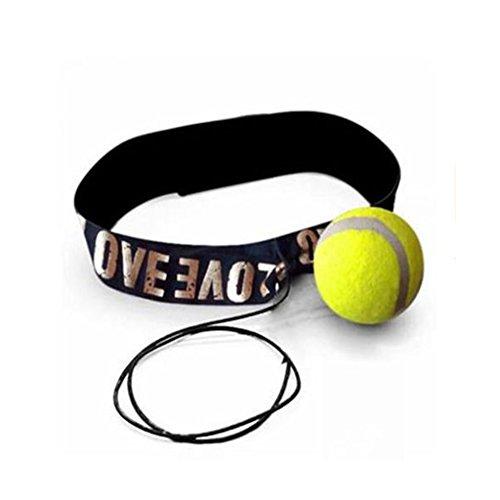 Boxen Punch Übung Kampf Ball mit Band für Reflex Geschwindigkeit Körperliche Fitness Training Boxen Heißer Verkauf Rot/Gelb(Gelb)