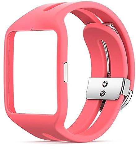 Sony Mobile SWR510PI Bracelet de Remplacement pour Sony SmartWatch – Rose