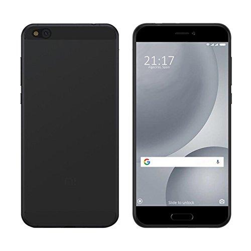 TBOC® Schwarz Gel TPU Hülle für Xiaomi Mi 5c - Mi5c (5.15 Zoll) Ultradünn Flexibel Silikonhülle