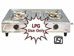 Brightflame Surya Stainless Steel 2 Burner Gas Stove for LPG Customer - ISI Approved