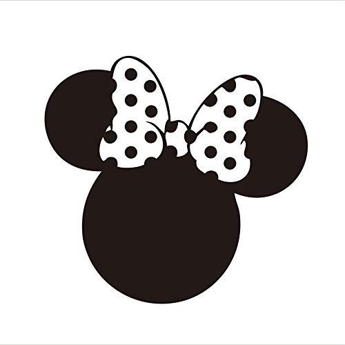 mer Wandtattoo Wohnzimmer Mickey Minnie Mouse Wandkunst Aufkleber Aufkleber Minnie Mouse Party Dekorationen Aufkleber Aufkleber für Mädchen Geburtstag Party Baby zeigen Glaskunst ()