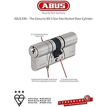 abus e90 t r zylinder 40 45 mm h chste abus sicherheitsstufe level 10 not und. Black Bedroom Furniture Sets. Home Design Ideas
