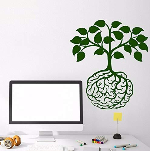 Mrhxly Wandtattoo Kreative Lebensbaum Muster Vinyl Wandaufkleber Klassenzimmer Idee Gehirn Design Wurzeln Art Decor Removable 57 * 65 Cm