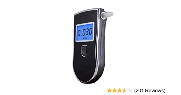 OFTEN LCD Display Police Digital Breath Alcohol Tester Breathalyzer With 5 Pcs Mouthpieces TM
