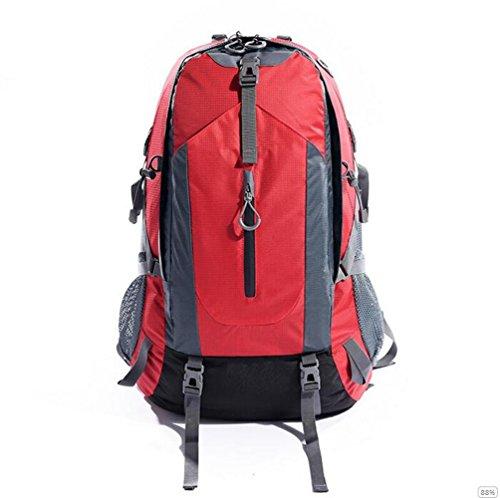GOUQIN Outdoor Rucksack Klassische Mode Outdoor Klettern Taschen Wasserdicht 50 L Schultern Tragen Zu Fuß Auf Das Paket Rucksack Rot